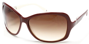 Alexander Daas Majesty Maroon/White with Rose Gradient Lenses